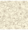 brown flowers vector image vector image