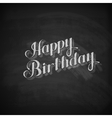 chalk of Happy Birthday emblem vector image vector image