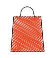 color crayon stripe bag for shopping vector image vector image