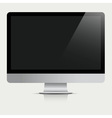 Computer Monitor with black screen vector image