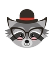 cute animal hipster style vector image