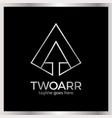 Double arrow logo