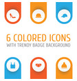 dress icons set collection of briefs singlet vector image