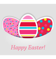 Eggs tag on grey background vector image