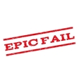 Epic Fail Watermark Stamp vector image vector image