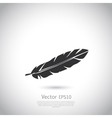 Feather icon or logo vector image vector image