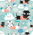 funny texture of the kittens vector image vector image