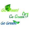 go green symbols vector image vector image