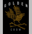 golden crow vector image vector image
