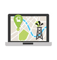 gps technology vector image vector image