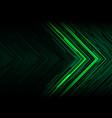 green light black line arrow polygon futuristic vector image