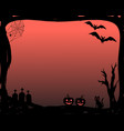 halloween party invitation in frame with vector image vector image