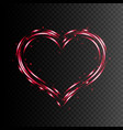 heart shape frame light effect vector image vector image