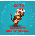 Holiday card with a dancing monkey