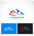 house mountain travel logo vector image vector image