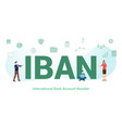 iban international bank account number concept