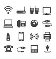 icons business communications vector image