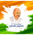 india background for 2nd october gandhi jayanti vector image vector image