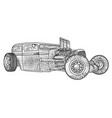 isolated of custom hot rod vector image vector image
