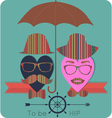 ladies and gents love hipster summer set vector image
