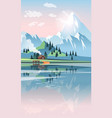 landscape with beautiful mountains and lake vector image