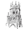 lantern tower at st botolphs boston lincolnshire vector image