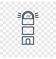 lighthouse concept linear icon isolated on vector image