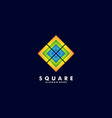 logo abstract square colorful style vector image
