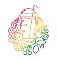 logo design for vegan or vegetarian vector image