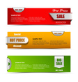 Modern horizontal banners with pointers sale vector image vector image