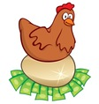 money hatching chicken vector image