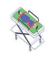 patient stretcher vector image