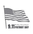 patriot day usa never forget 911 poster vector image vector image