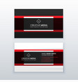 professional red and black business card design vector image vector image