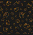 pumpkin or squash pattern in orange color on vector image vector image
