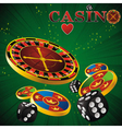 roulette casino green vector image vector image