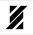 s aa ll initials geometric letter company logo vector image vector image