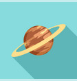 saturn planet icon flat style vector image vector image