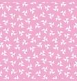 seamless hipster geometric pattern pinwheel pink vector image vector image