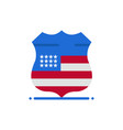shield sign usa security flat color icon icon vector image vector image
