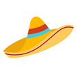 sombrero flat cartoon vector image vector image