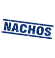 square grunge blue nachos stamp vector image vector image