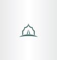 tent icon logo symbol vector image