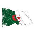 textured grunge waving flag algeria vector image vector image
