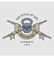 The weight of the skull emblem vector image vector image