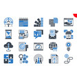 thin line icons set search engine optimization vector image vector image