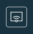 wifi outline symbol premium quality isolated vector image