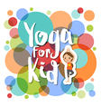 yoga for kids cartoon vector image vector image