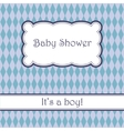 Background with rhombuses baby shower vector image