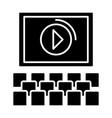 cinema screen show icon vector image